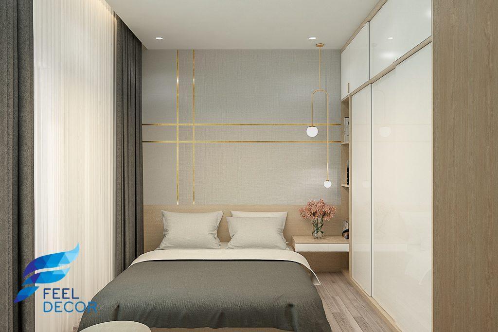 Thiết kế thi công nội thất căn hộ 66m2 (2 phòng ngủ) chung cư Saigon Mia