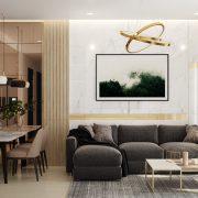 Hình ảnh: thiết kế thi công nội thất căn hộ 3 phòng ngủ 97m2 chung cư Sunrise Riverside