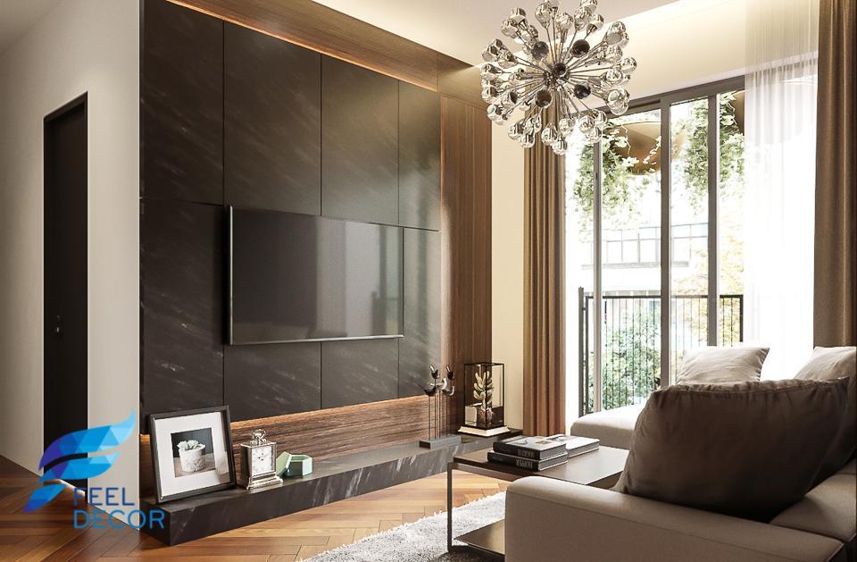 Hình ảnh: Thiết kế thi công nội thất căn hộ 2 phòng ngủ 75m2 chung cư Masteri An Phú