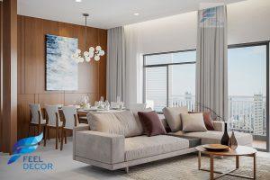 Hình ảnh: Thiết kế thi công nội thất căn hộ 2 phòng ngủ 83m2 chung cư Sunrise Riverside
