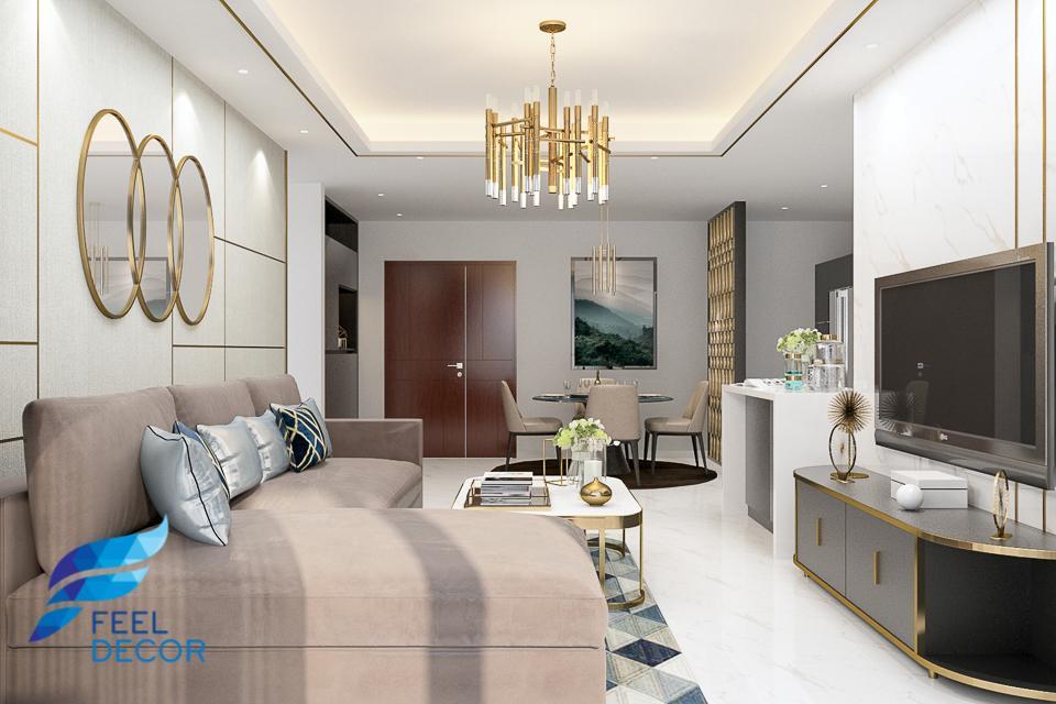 Hình ảnh: Thiết kế thi công nội thất căn hộ 96m2 (2 phòng ngủ) Sarina Condominium KDT Sala