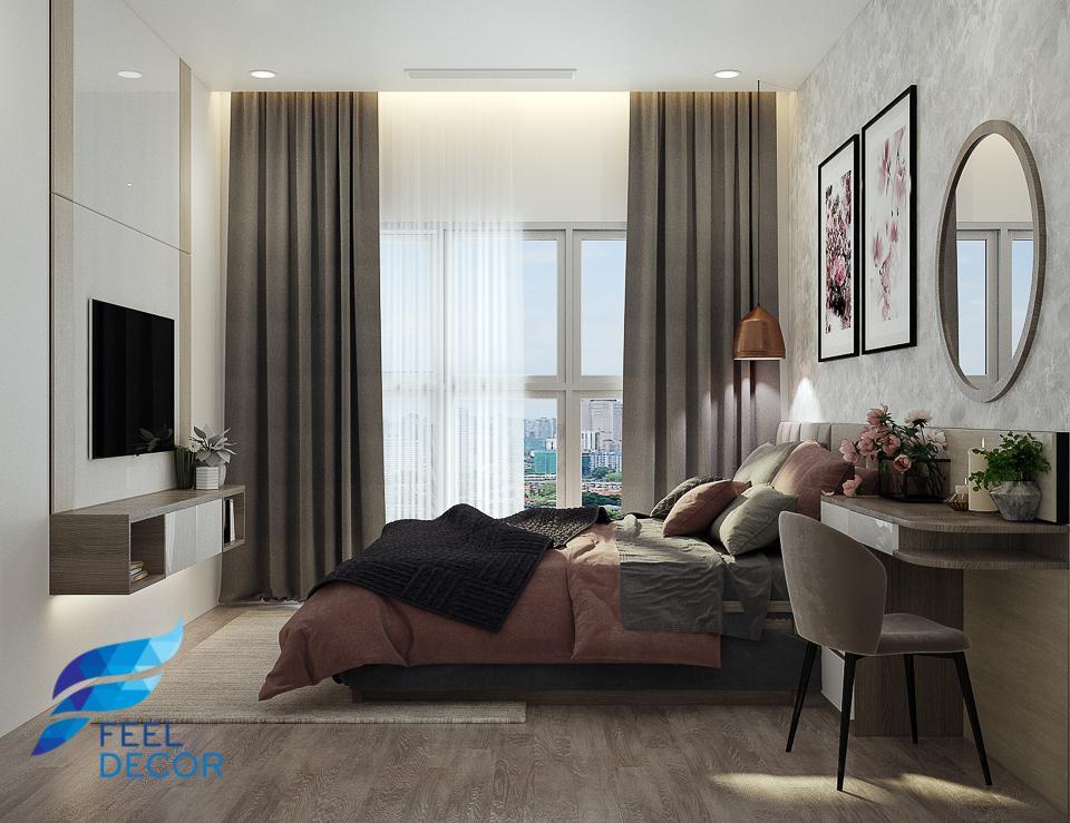Hình ảnh: Thiết kế thi công nội thất căn hộ 2 phòng ngủ 90m2 chung cư Sadora KĐT Sala