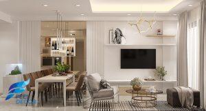 Thiết kế thi công nội thất cho căn hộ chung cư RichStar 3 phòng ngủ 94m2