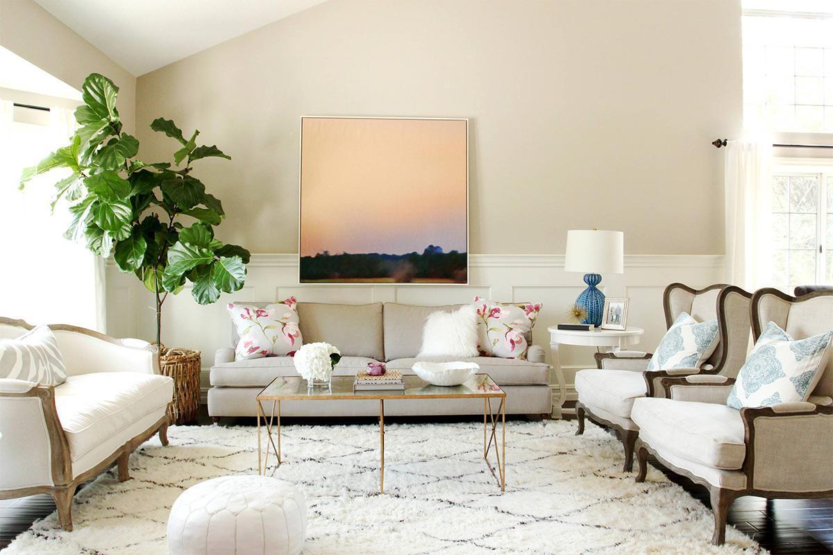 Cây xanh trong phòng khách