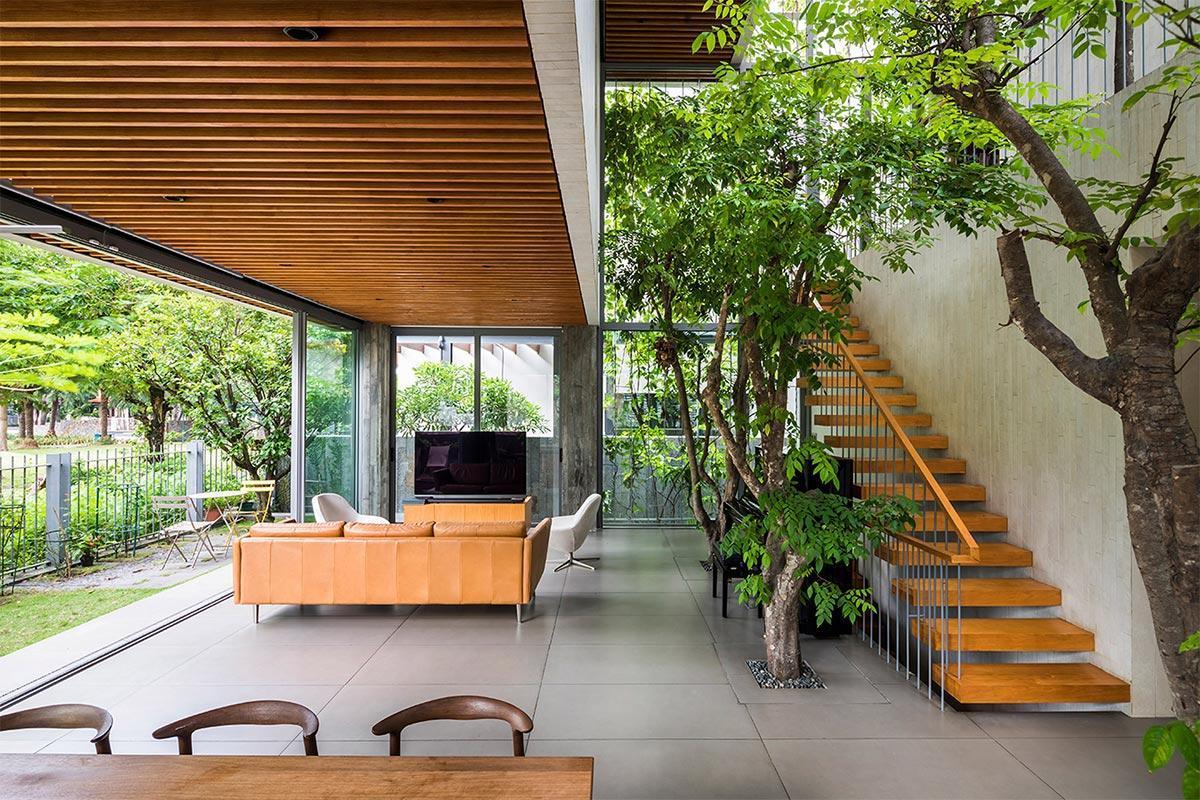 trang trí cây xanh trong thiết kế nội thất