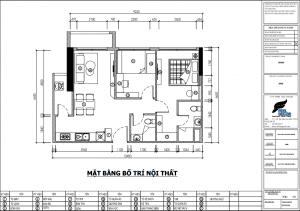 Hình ảnh: Mặt bằng bố trí nội thất căn hộ 2 phòng ngủ 81m2 chung cư Masteri An Phú