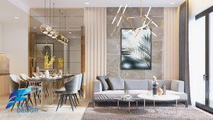 Hình ảnh: Thiết kế thi công nội thất căn hộ 2 phòng ngủ 81m2 chung cư Masteri An Phú