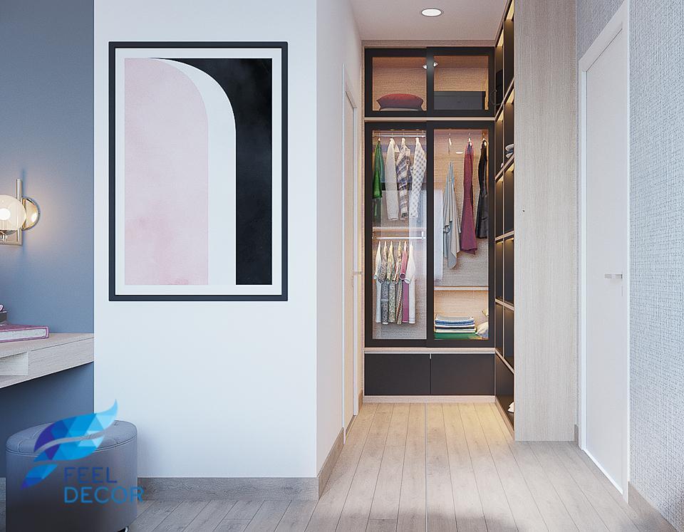 Thiết kế thi công nội thất căn hộ 81m2 (2 phòng ngủ) chung cư Masteri An Phú