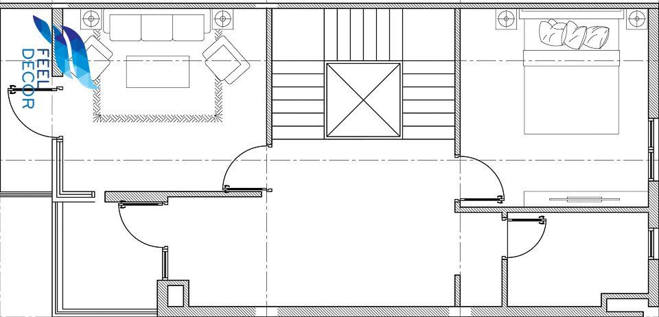 Hình ảnh: Mặt bằng bố trí nội thất nhà phố Lavila 3 tầng diện tích 233m2