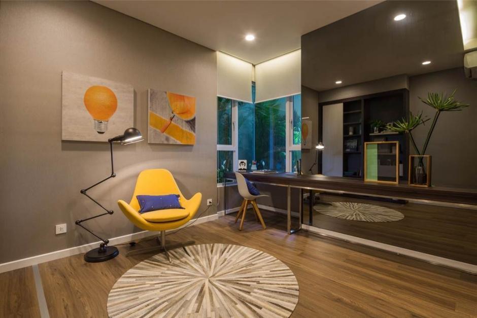 Không gian làm việc sáng tạo, tiện lợi của căn hộ Estella Heights.
