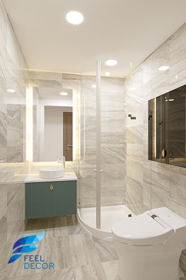Hình ảnh Thiết kế nội thất căn hộ 65m2 ( 2 phòng ngủ) chung cư Masteri An Phú