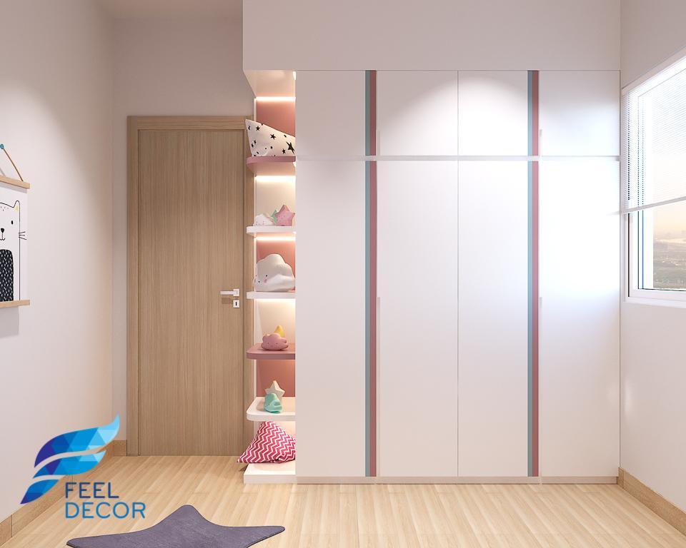 Hình ảnh Thiết kế nội thất căn hộ 74.9m2 (2 phòng ngủ) tại chung cư Botanica Premier