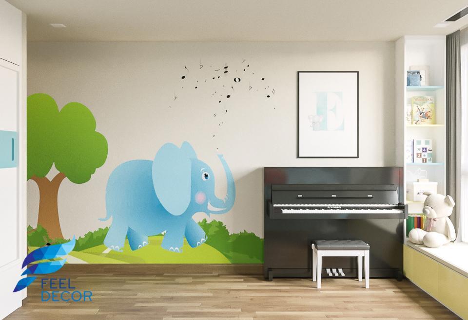 Hình ảnh Thiết kế nội thất căn hộ 90m2 (2 phòng ngủ) Vinhomes Central Park