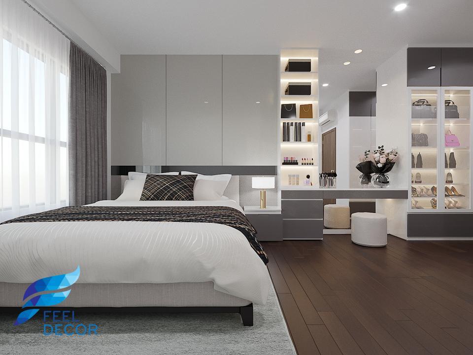 Hình ảnh Thiết kế nội thất căn hộ 97m2 tại chung cư The Sun Avenue