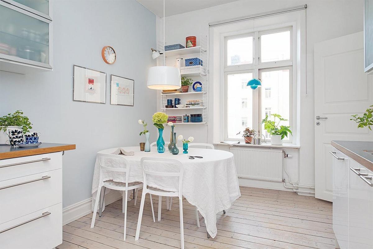 bàn ăn trang trí theo phong cách Scandinavian