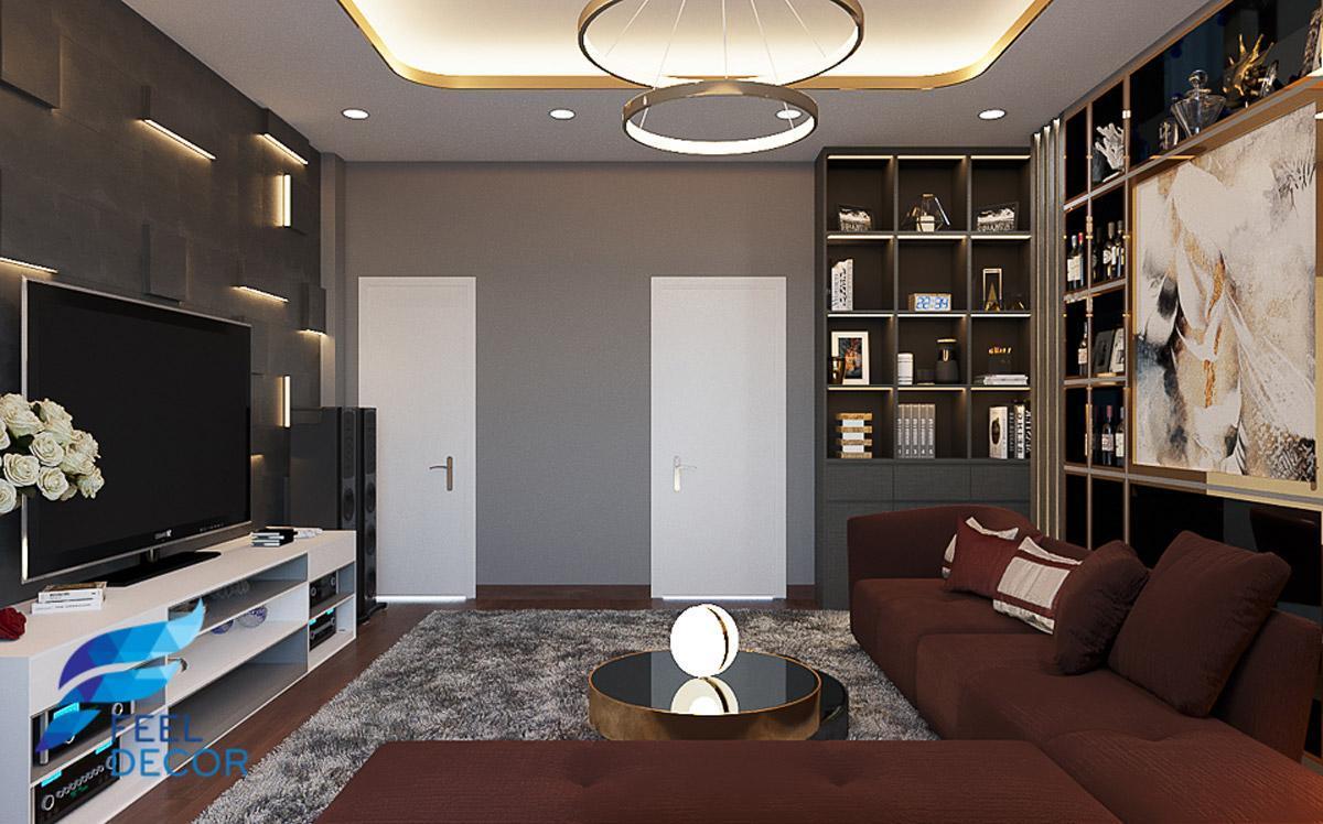 Không gian nội thất nhà phố độc đáo mang cảm hứng thiên nhiên