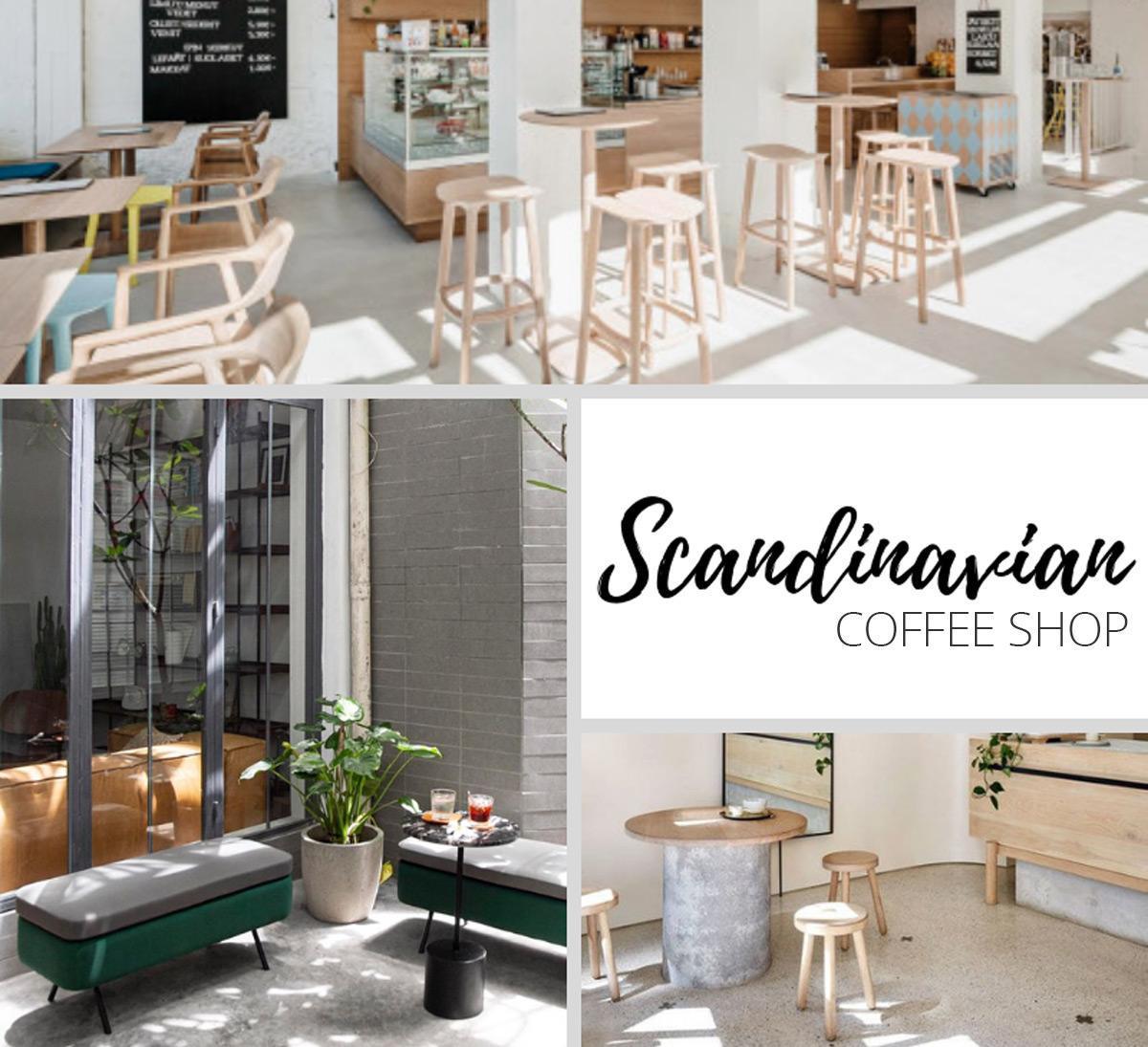 Mô hình quán cafe theo phong cách Bắc Âu - Scandinavian