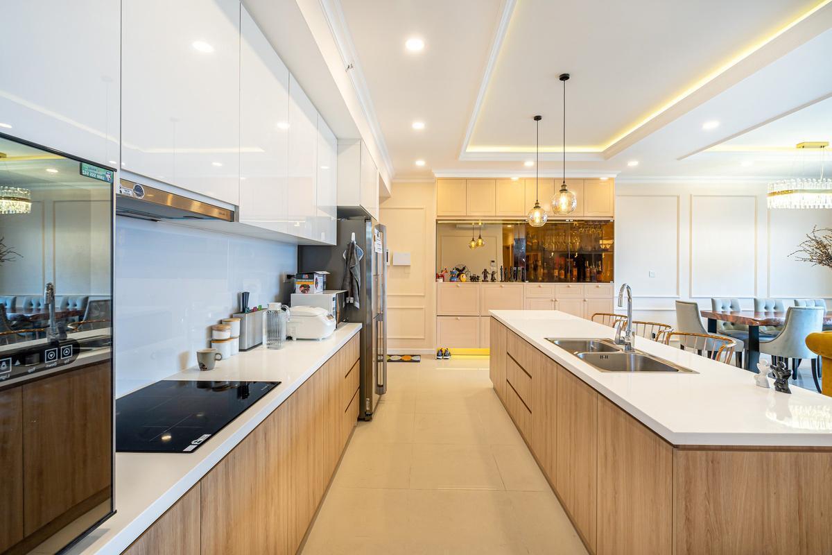 thiết kế nội thất căn hộ 100m2 ấn tượng