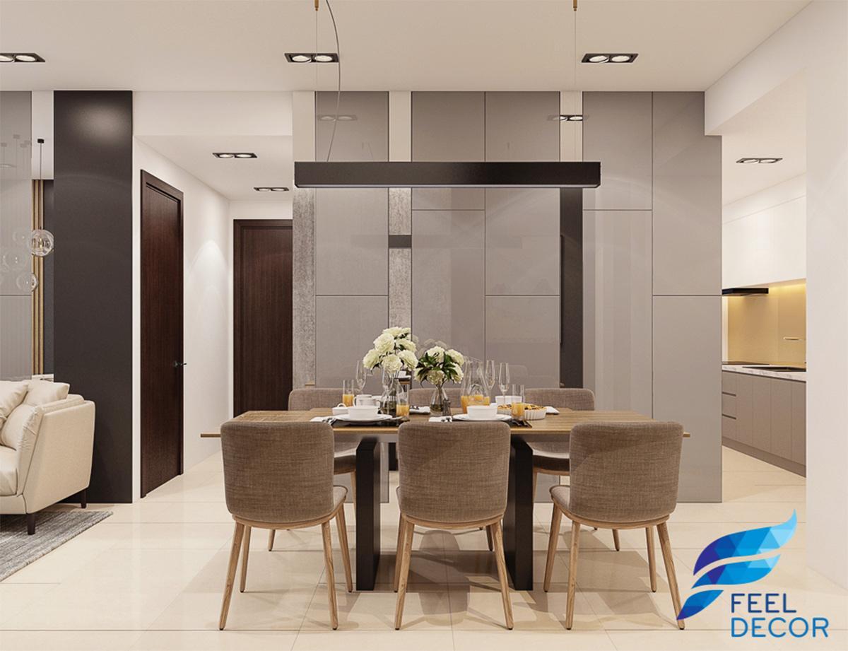 thiết kế nội thất căn hộ 100m2