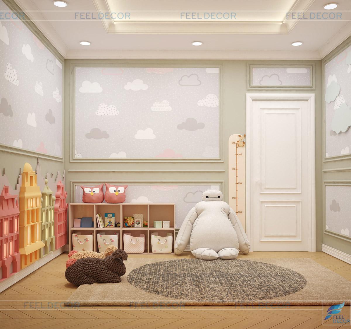 thiết kế nội thất căn hộ 100m2 sky center
