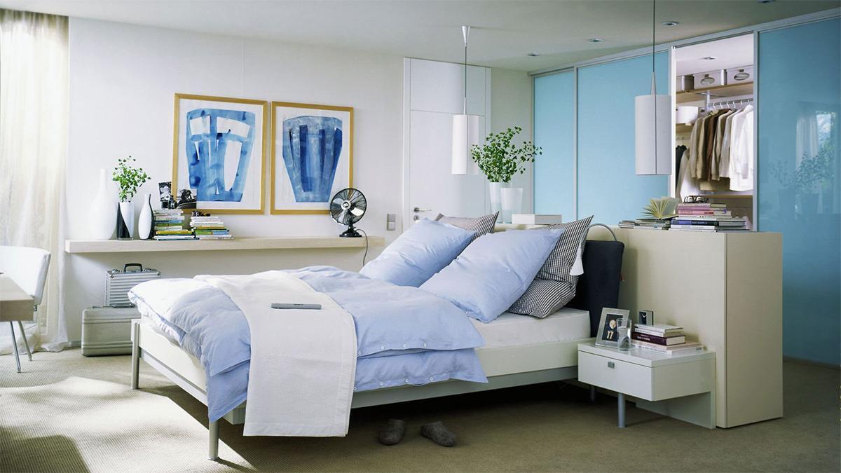 nội thất phòng ngủ master căn hộ 50m2