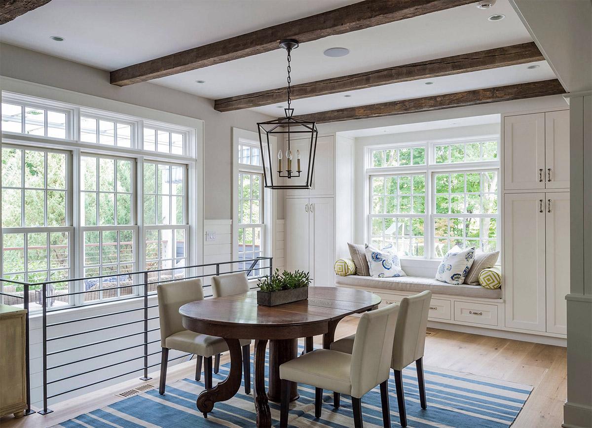 Thiết kế nội thất bán cổ điển cho phòng khách sân vườn