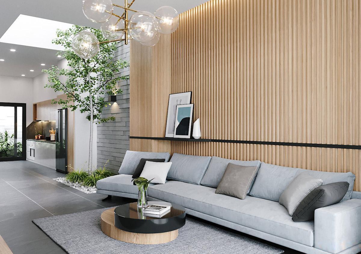 Thiết kế nội thất nhà phố mặt tiền 4m