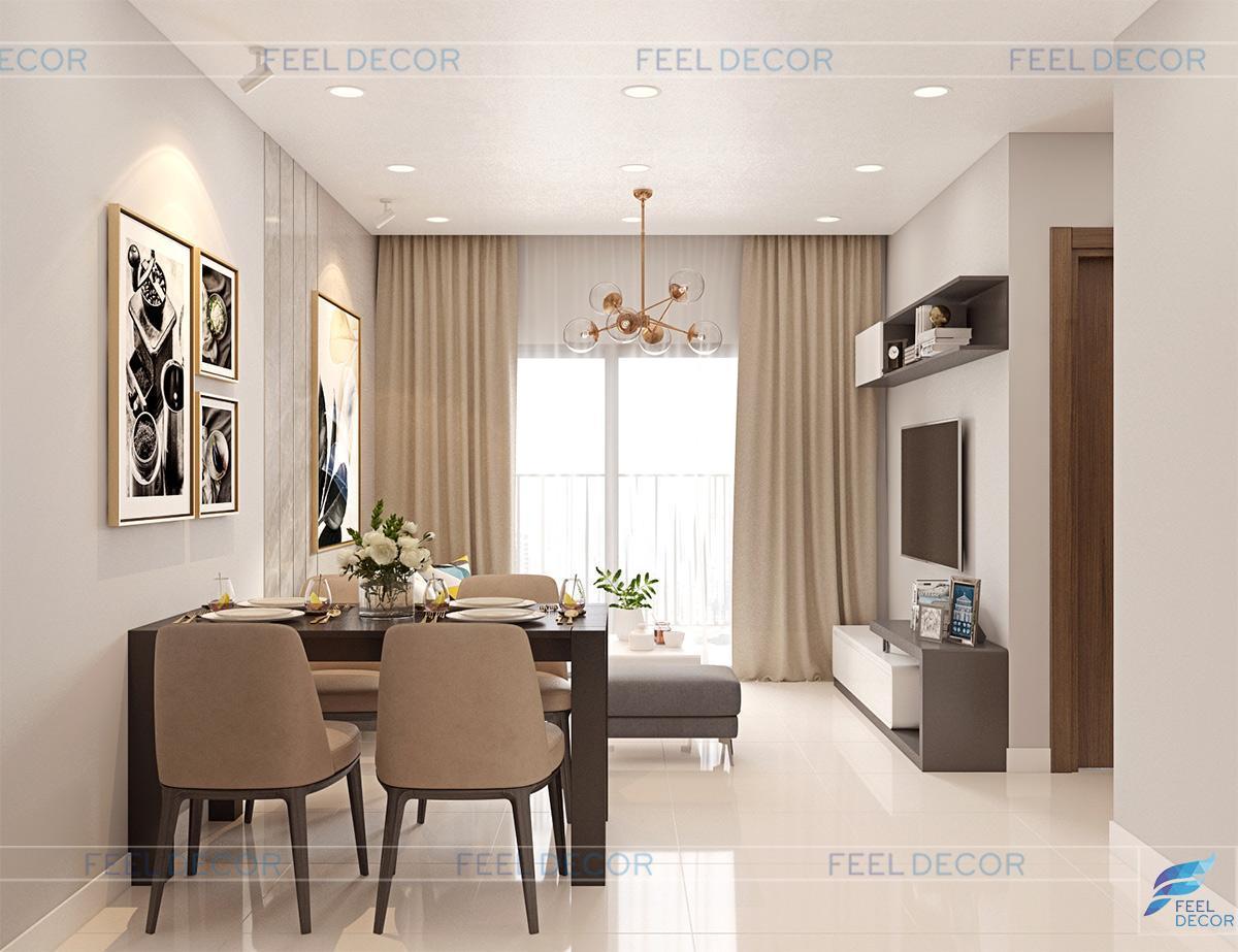 nội thất căn hộ 2 phòng ngủ 66m2 chung cư Sunrise Riverside