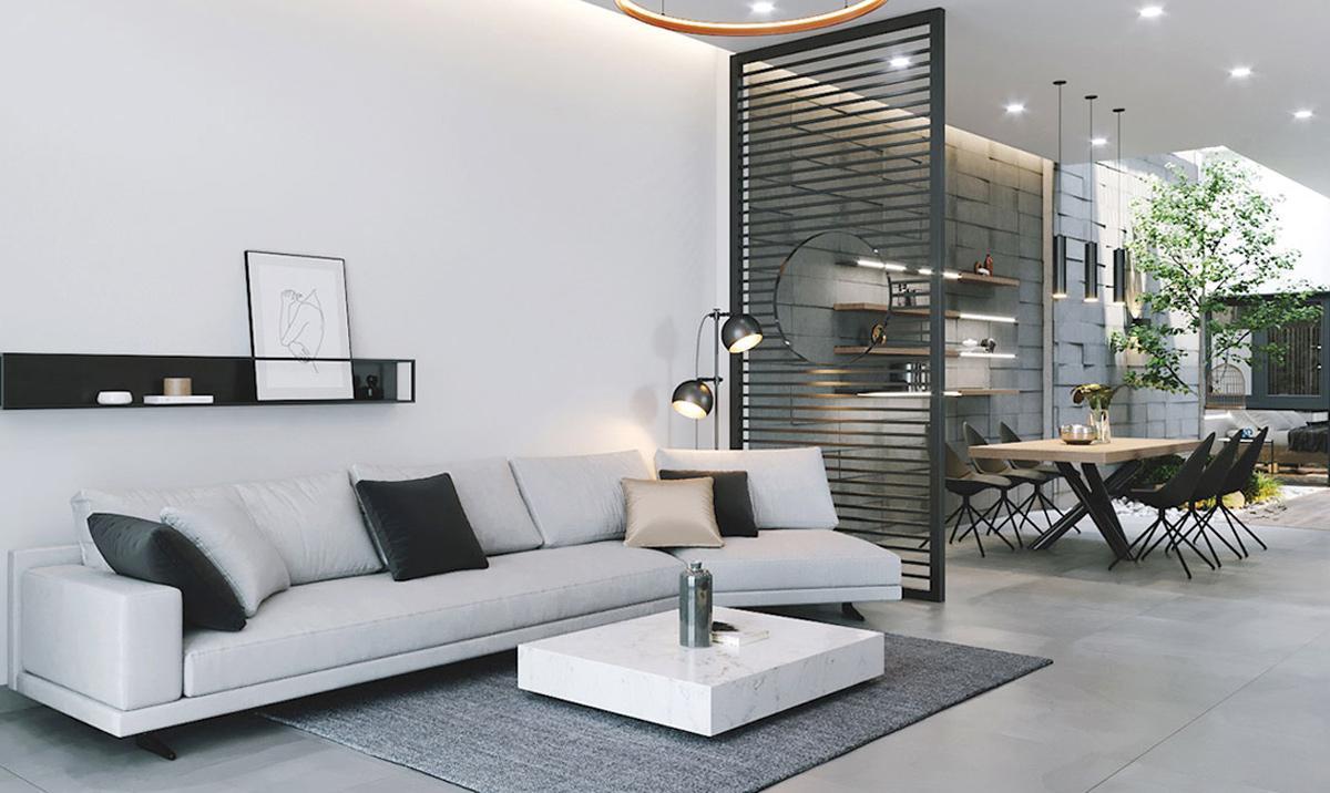 Thiết kế nội thất nhà phố 1 tầng phong cách Minimalism