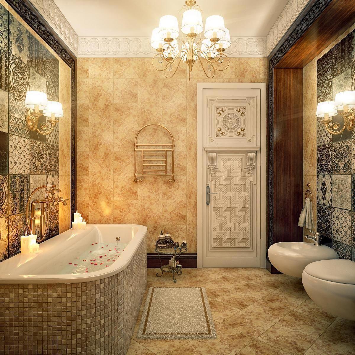 phòng vệ sinh phong cách cổ điển