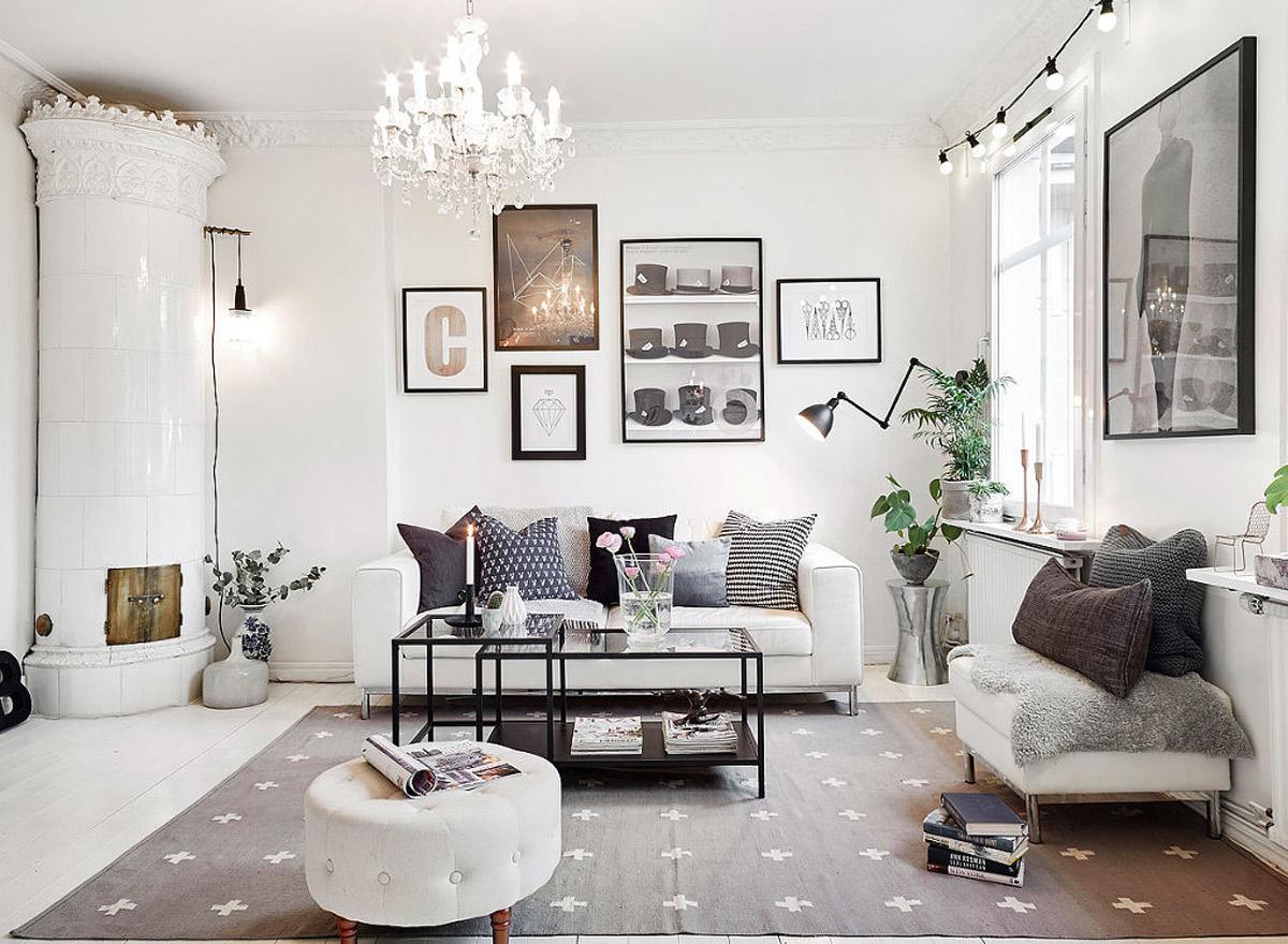 trang trí thảm cho phong cách scandinavian