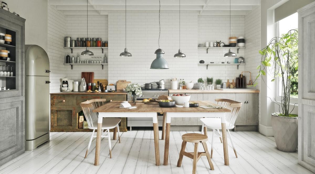 thiết kế nhà bếp phong cách Scandinavian