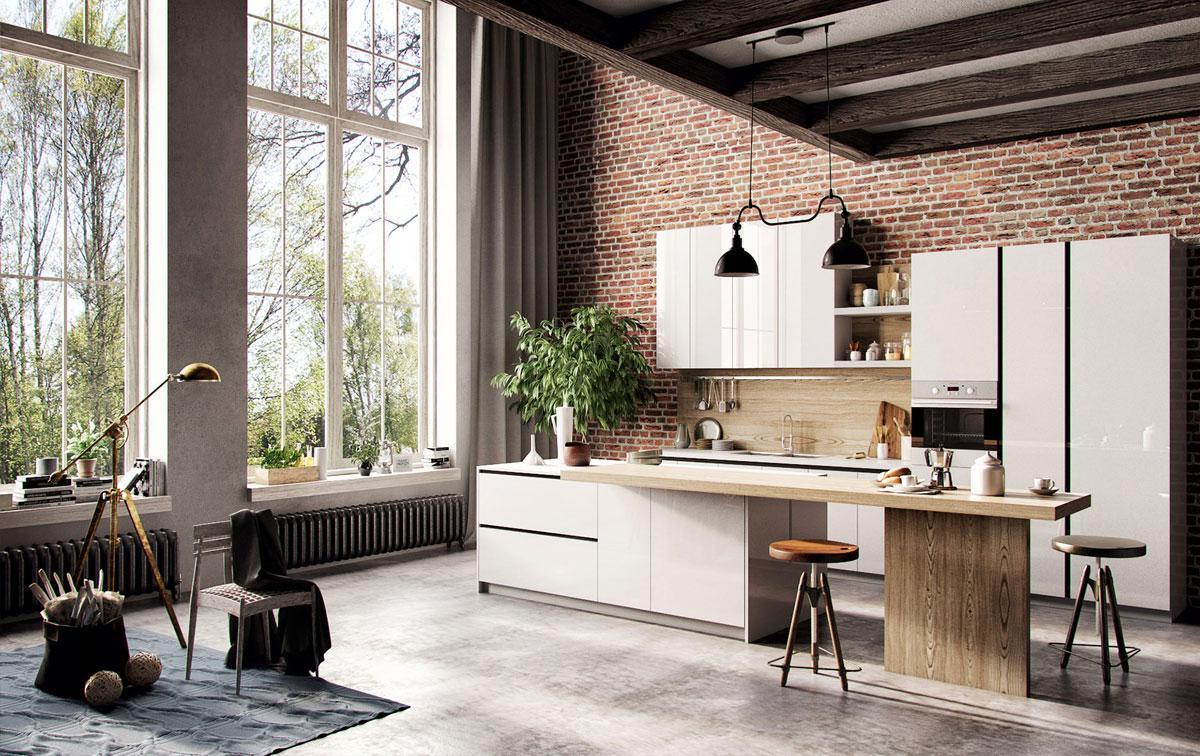 không gian phòng bếp với phong cách bắc âu