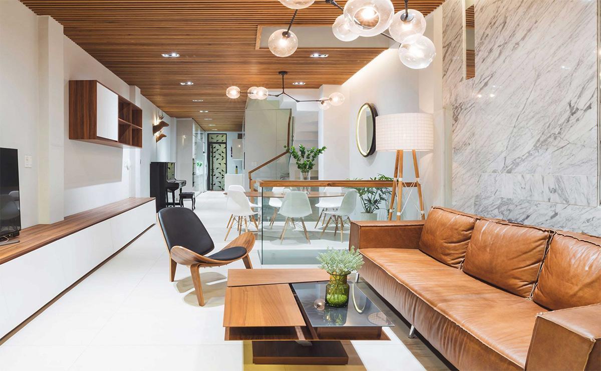 thiết kế nội thất phòng khách nhỏ hẹp
