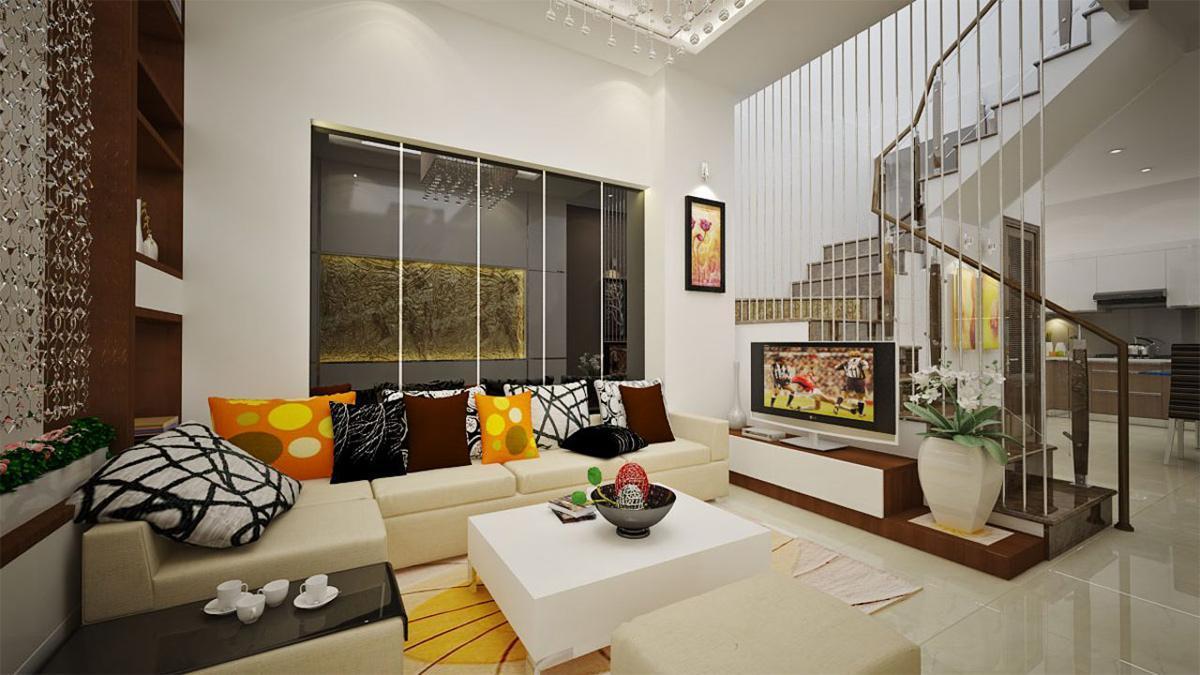 Trang trí phòng khách nhà phố không gian mở