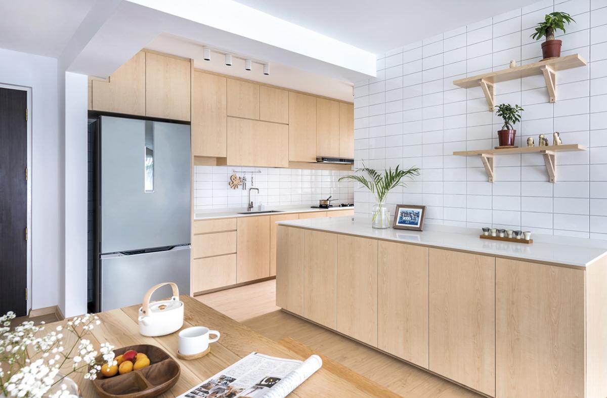 phòng bếp thiết kế phong cách nhật bản