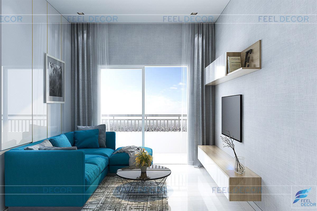 Thiết kế thi công nội thất căn hộ 65m2 2 phòng ngủ