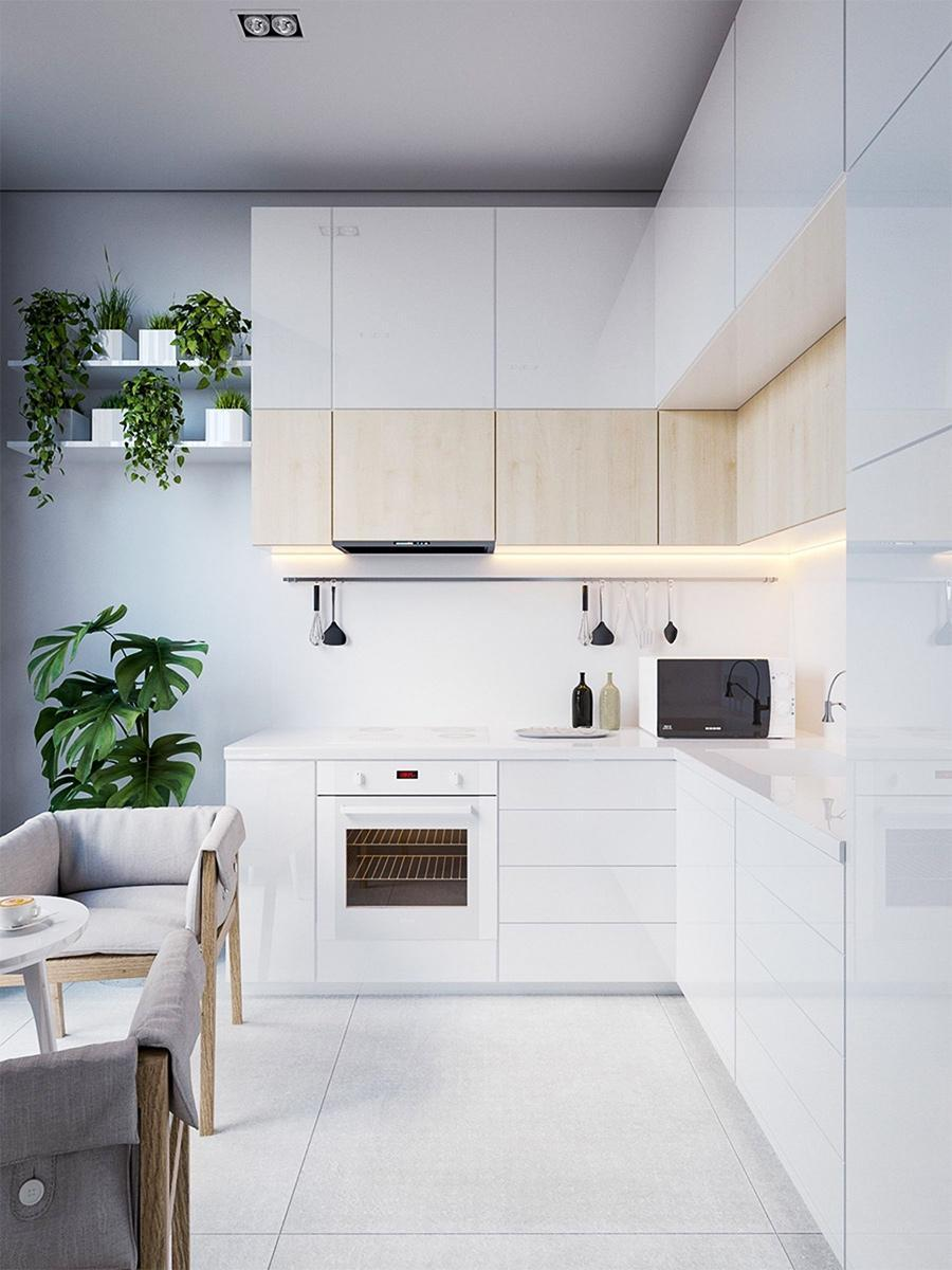 phòng bếp tối giản