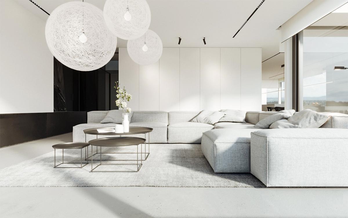 thiết kế thi công nội thất tối giản