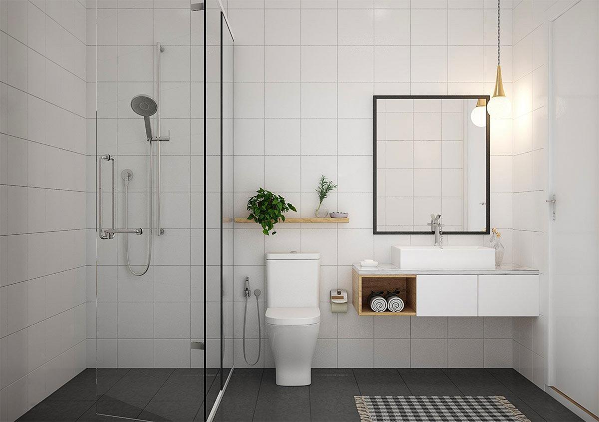 phòng vệ sinh theo phong cách minimalism