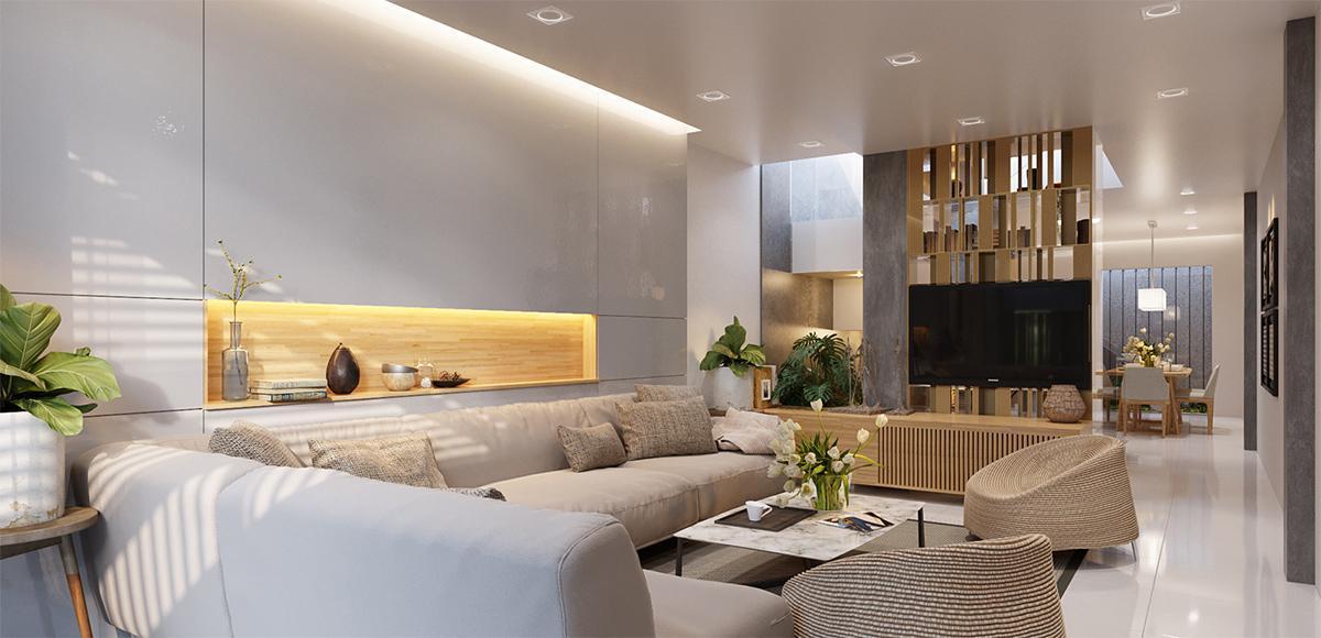 Xu hướng thiết kế nội thất nhà ống 2 tầng năm 2020