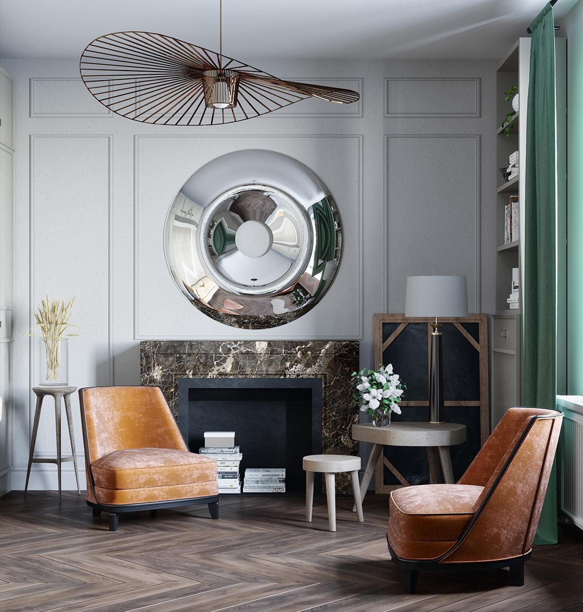 Xu hướng thiết kế nội thất tân cổ điển đậm nét phương Tây