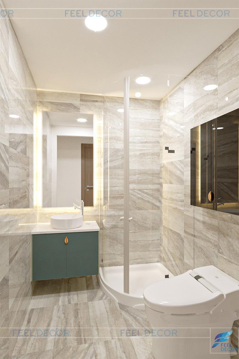 Thiết kế thi công nội thất căn hộ mẫu chung cư Masteri – Chủ đầu tư chị Thảo