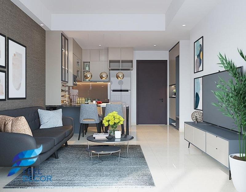 thiết kế nội thất chung cư cao cấp 1 phòng ngủ