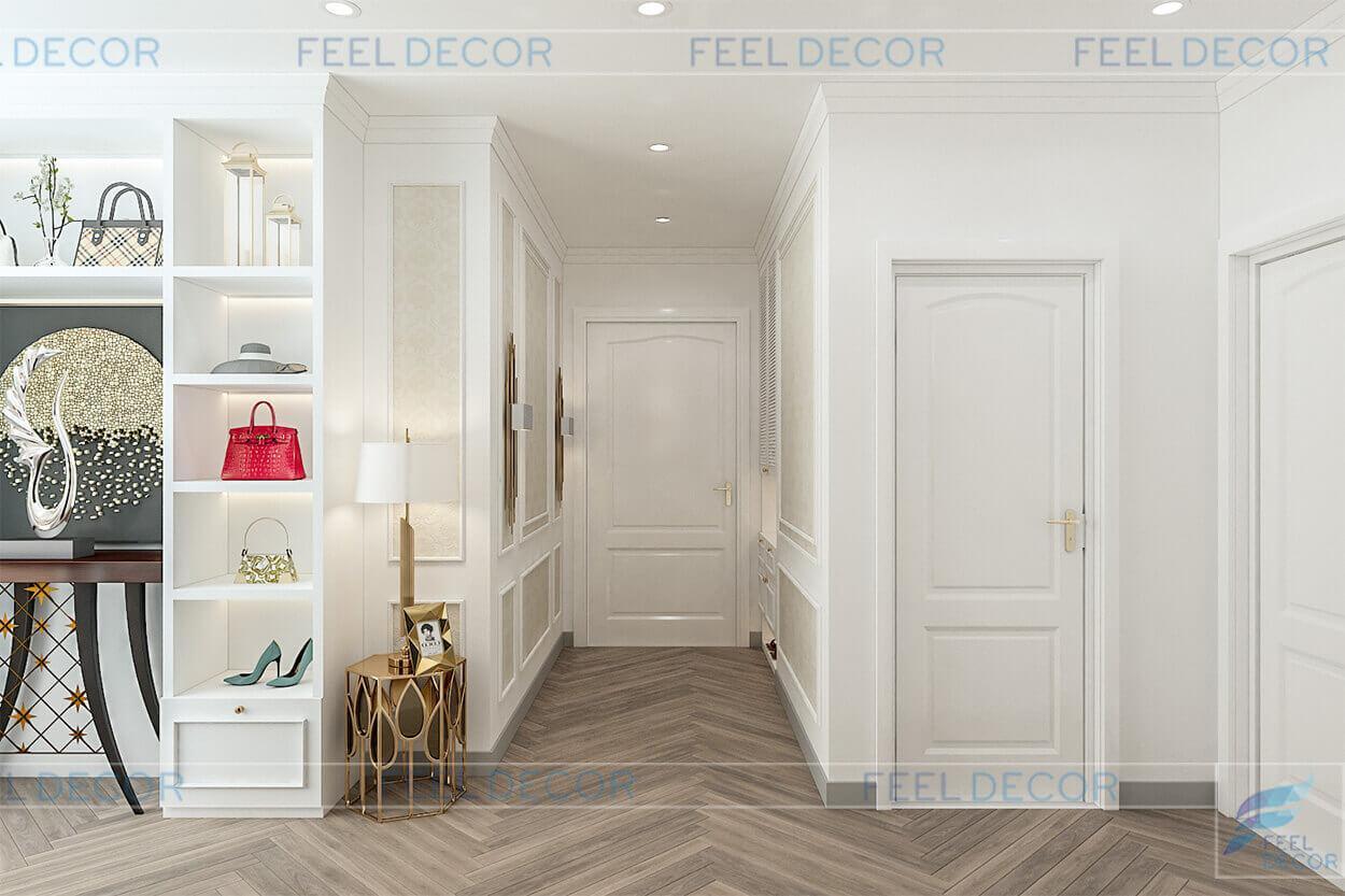 Hình ảnh 3D nội thất phòng khách căn hộ 95m2 chung cư Masteri An Phú