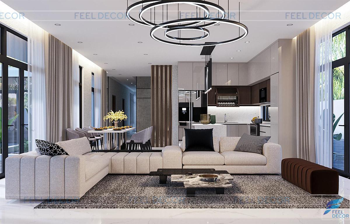 Thiết kế nội thất biệt thự Tiền Giang