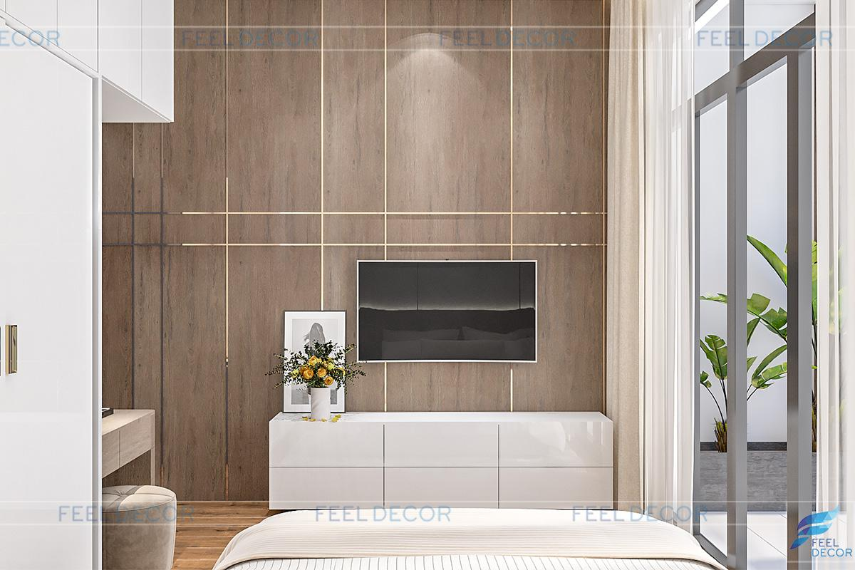 Thiết kế nội thất tầng 1 biệt thự Tiền Giang
