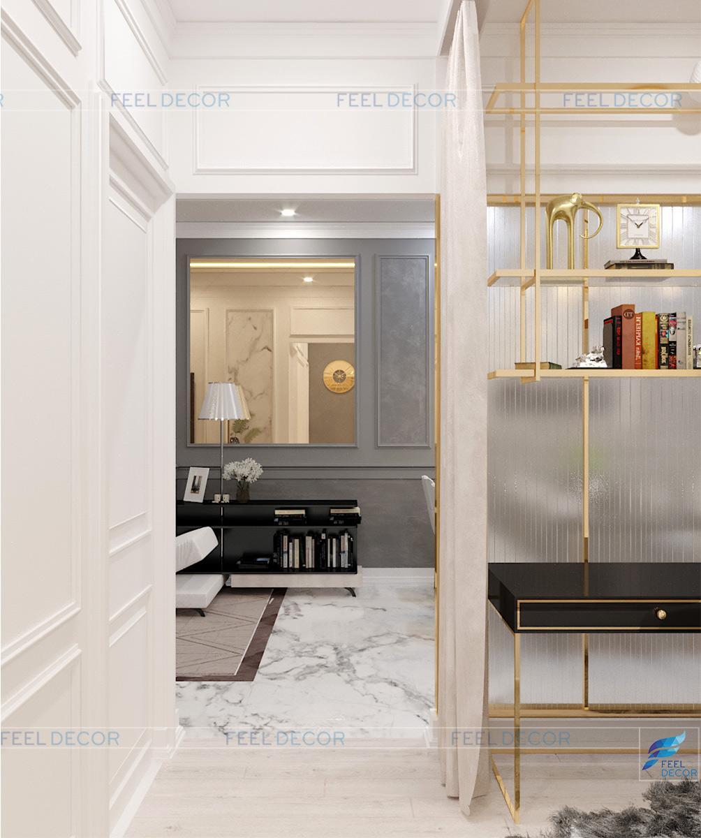 Thiết kế thi công nội thất căn hộ 100m2 2 phòng ngủ chung cư Botanica Primier