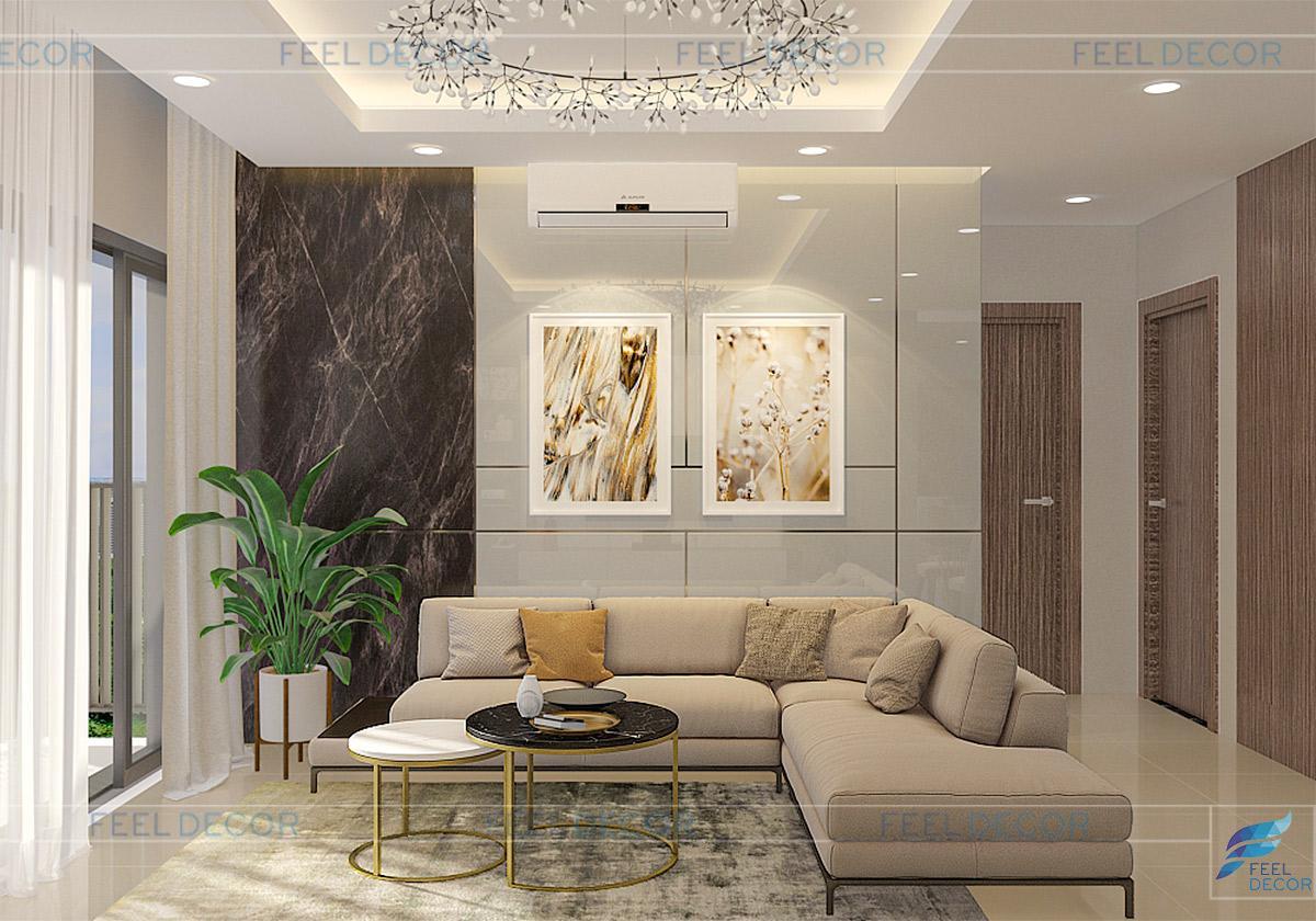 Thiết kế thi công nội thất căn hộ 102m2 chung cư An Khang – chủ đầu tư anh Dân