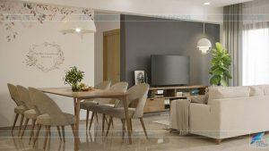Thiết kế thi công nội thất căn hộ 109,5m2 chung cư The Sun Avenue – Chủ đầu tư chị Liên Phương